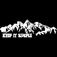 keep it simple Berge Wandern