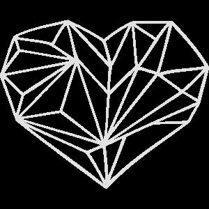 Herz geometrisch eigene Farbwahl des Designs