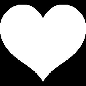 Herz 2 weiß