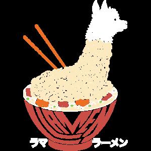 Ramen Lama Llamen japanisch lustiges Geschenke