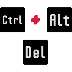 CTRL + ALT + DEL / STRG + ALT + ENTF - BLUESCREEN