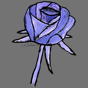 Róża niebieska sixnineline stylu