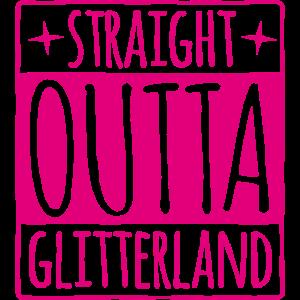 Straight outta - Glitterland pink