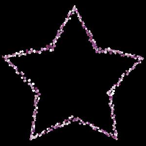 1 Stern rosa