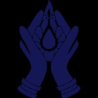 Meditierende Hände