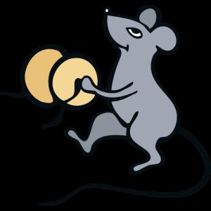 Maus spielt Becken