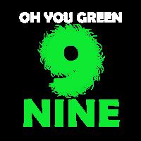 Ach du grüne Neune / Denglisch / Geschenk / Shirt