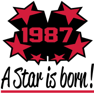 Jahrgang 1980 Geburtstagsshirt: 1987