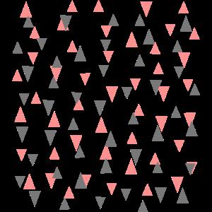 Dreieicke zweifarbig, auf und ab