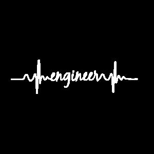 Herzschlag EKG Engineer Ingenieur Technik Geschenk