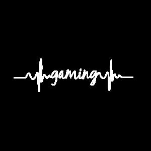 Herzschlag EKG Gaming Nerd zocken Geschenk