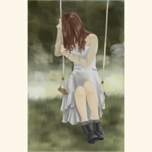 Sad Girl on Swing