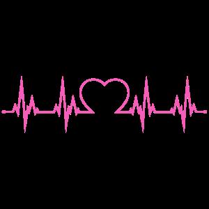 Herzschlag Herz EKG Liebe Herzklopfen pink
