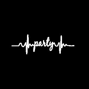 Herzschlag EKG Party Musik saufen Feiern Geschenk