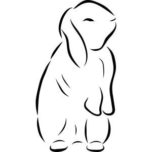 stehendes Häschen Hase Kaninchen Zwergkaninchen