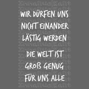 Welt Immanuel Kant Zitat Spruch Geschenk Idee