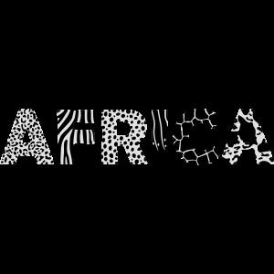 AFRICA – Buchstaben mit Tiermuster