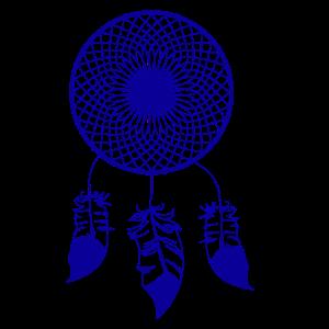 Traumfänger in Blau