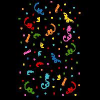 Fasching Konfetti Luftschlangen Party Feier bunt