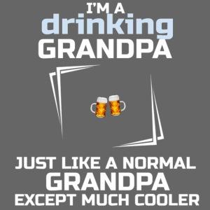 Nonno bevitore di birra.Beer drinking grandpa