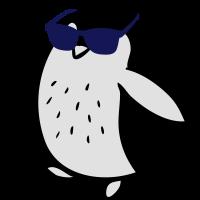 Cooler Pinguin