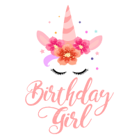 Birthday Girl - lovely Unicorn