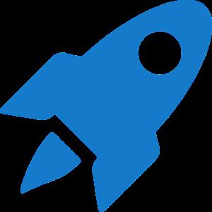 Blaue Weltraum Rakete Geschenk Idee