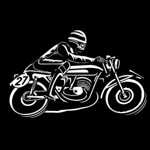 Cafe Racer Motorrad 03_schwarz weiß