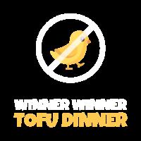 Abendessen Gewinner Gewinner Tofu