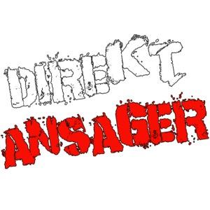 """""""Direktansager"""" - Schriftzug"""