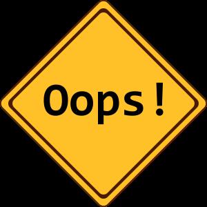 error, oops!, anpassbar