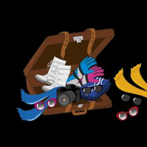 Winterurlaub Koffer