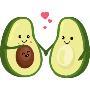 Verliebte Avocado - Schwangerschaft - Baby-Familie