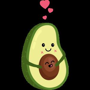 Schwangere Avocado - Herz - Liebe -Schwangerschaft