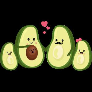 Avocado Familie - Schwangerschaft - Lustig - Baby