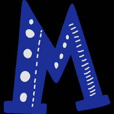 Buchstabe M -  - mexikanisch,freedesigns17,bunt,boho,Wordart,Typografie,Symbole,Shape,Schriftzug,Mexiko,Länder,Folk,Fahne,Clipart,Buchstabe,Bohemien,Alphabet