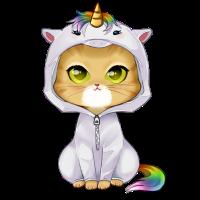 Caticorn - süße niedliche Katze in Einhorn Kostüm