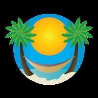 Palmen Strand Hängematte Geschenk Idee
