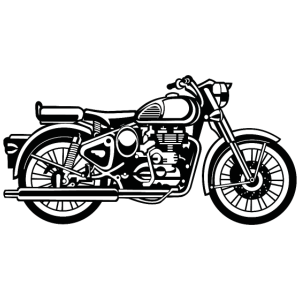 Motorrad / Motorcycle 02_schwarz weiß