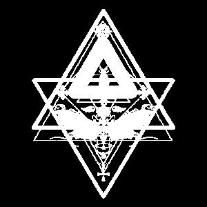 Totenkopfschwärmer im okkultem Design