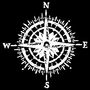 Kompass Wandern Berg Segeln Geschenk