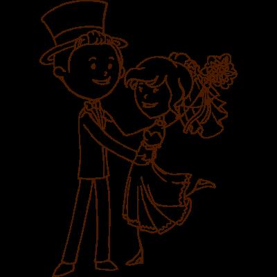 brautpaar gezeichnet