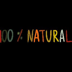 100% natürliches Etikett