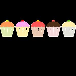 Muffin Kuchen Bunt Essen Süß Kinder Geschenkidee