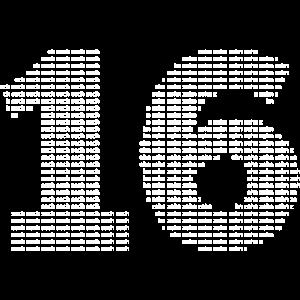 sechzehn