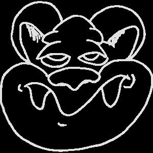 Witziges Rattengesicht