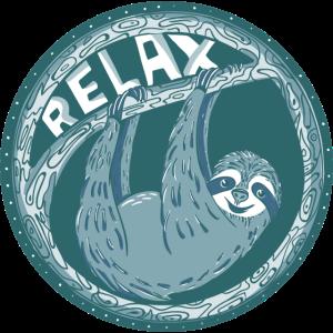 RELAX -- blaues Faultier
