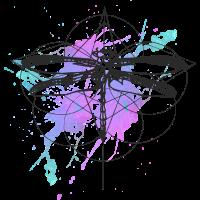 Libelle-aquarell