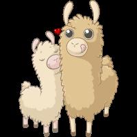 Süße Alpaka Familie