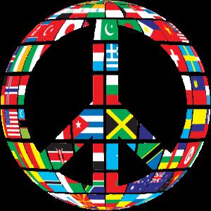 Frieden Flaggen Geschenk Geschenkidee
